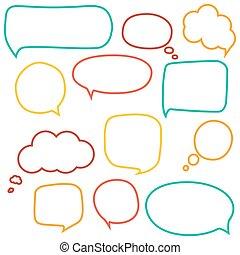 discurso, burbujas