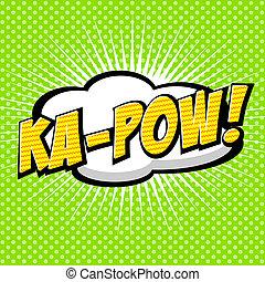 discurso, cómico, burbuja, ka-pow!