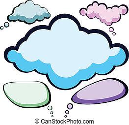discurso, color, clouds.