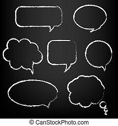 discurso, conjunto, burbuja, grande