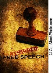 discurso libre, censurado