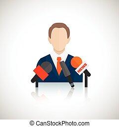 discurso público, ícone