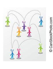 discurso, social, medios, interacción