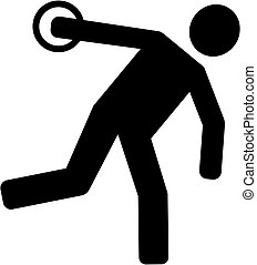 Discus Thrower Silhouette
