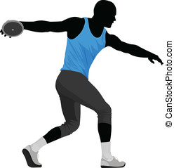 Discus Thrower - Vector illustration of discus thrower