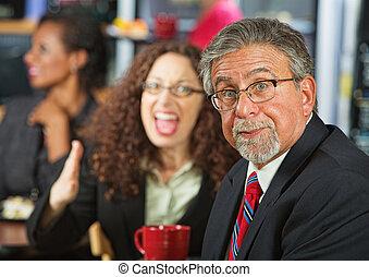 discusión, compañeros de trabajo