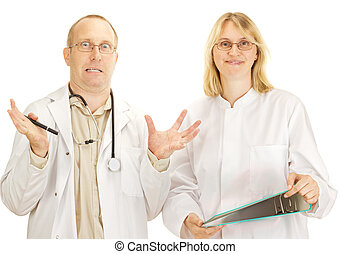 discusión, dos, doctors
