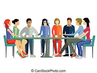 discusión, equipo
