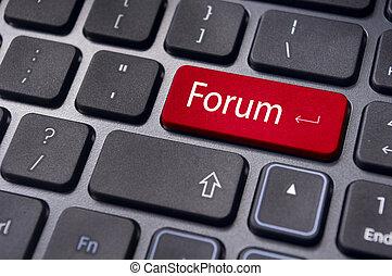 discusión, foro, en línea, o, internet