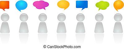 discusión, panel