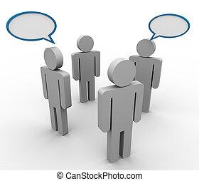 discussão, conceito, grupo