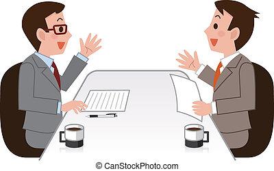 discussão, negócio