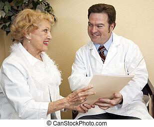 discussão, paciente, doutor