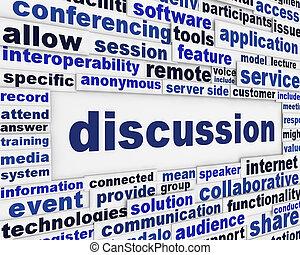 discussie, poster, ontwerp