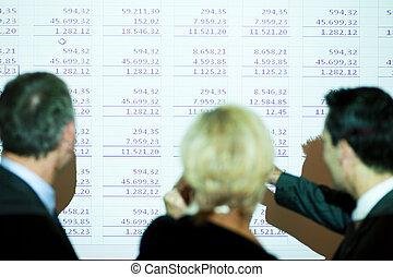discussing, kalkulační tabulka, mužstvo