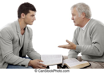 Believer explains God's Words to a young man