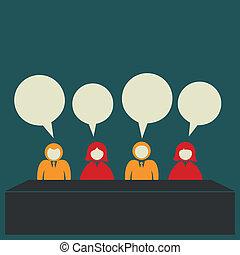 discussion, équipe