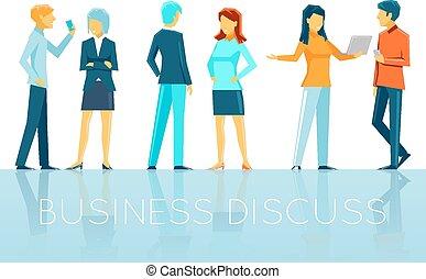 discussion affaires, gens