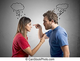 Discussion between husband and wife - Concept of discussion...