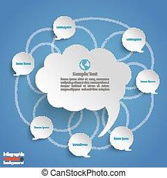 Discussion Bubbles Blue Background