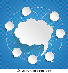 Discussion Bubbles Blue Sky
