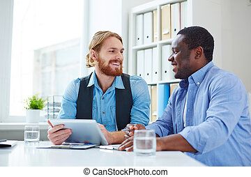 discussion, business