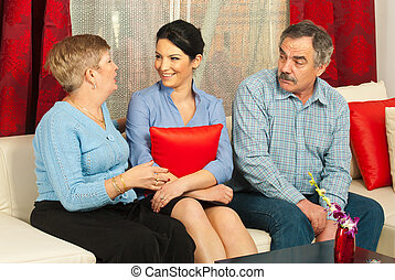 discussion, famille