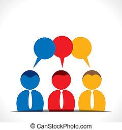 discussion, gens, message, bubb
