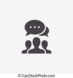 discussion icon, on white background.