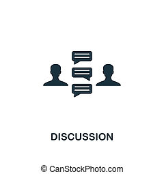 Discussion icon. Premium style design from business management icon collection. Pixel perfect Discussion icon for web design, apps, software, print usage