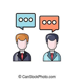 discussion line flat icon