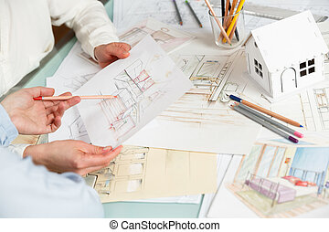 Discussion of interior hand drawings - Interior designers ...