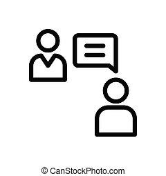 discussion thin line icon