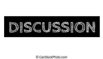 Discussion typographic stamp