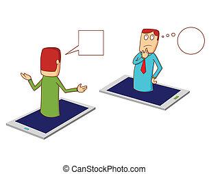discussion via smartphone