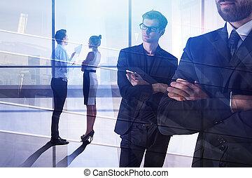 discussione, concetto, lavoro squadra