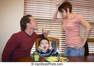 discuter, parents