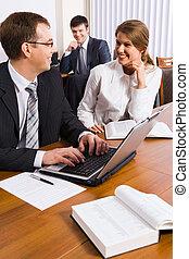 discuter, Travail,  plan,  Business, gens
