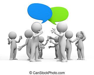 discutere discusso dibattito persone