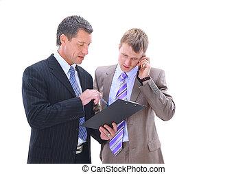 discutindo negócio, pessoas