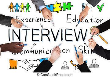 discutir, multi, grupo, businesspeople, étnico