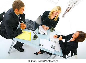 discutir, reunião, businessteam