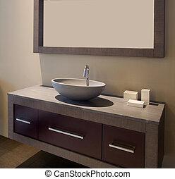 diseñador, cuarto de baño