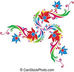 diseñador, flores