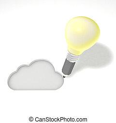 diseñar, un, nube, service.