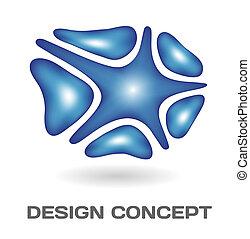diseño abstracto, concepto
