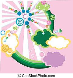diseño abstracto, para, niños