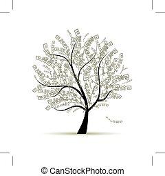 diseño, arte, árbol, su