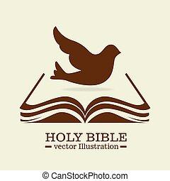diseño, biblia, santo