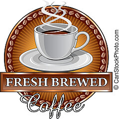 diseño, café, sunburst